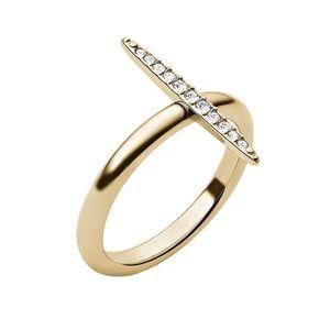 MICHAEL KORS Matchstick  Pave Ring sz 7